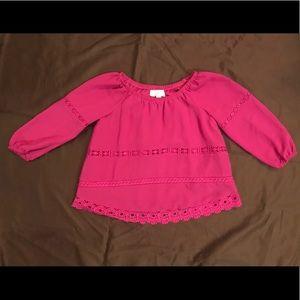 GB Girls 3/4 sleeve sheer top